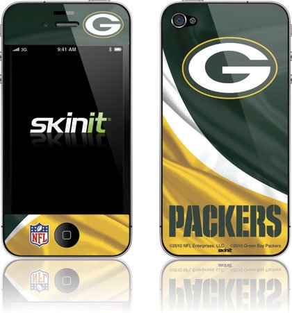 Skinit Green Bay Packers Vinyl Skin for Apple iPhone 4 / 4S