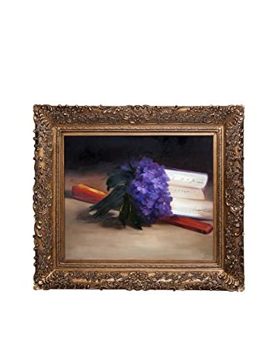 "Édouard Manet ""Bouquet Of Violets"" Framed Hand-Painted Oil Reproduction"