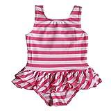 2016 女の子 子供 女児水着 可愛いピンク ストライプ ファッション キュート ワンピース水着 柔らかい 快適 スイミングウェア S179_2A