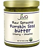 Jiva Organics RAW SPROUTED Organic Pumpkin Seed Butter 8-Ounce Jar