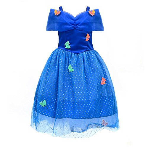 [Loel Princess Cinderella Party Costume Dress (2-3YS)] (Cinderella Dress For Toddler)