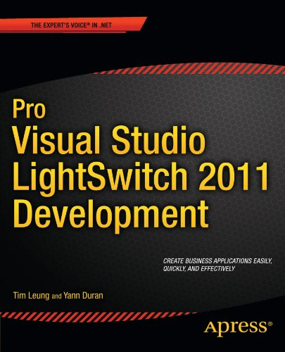 Pro Visual Studio LightSwitch 2011 Development (Professional Apress)