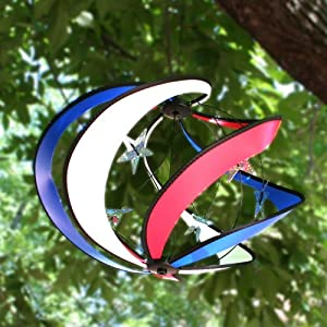 Patriotic Galaxy Hanging Wind Spinner