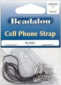 Cell Phone Strap Plain 6/Pkg-Black