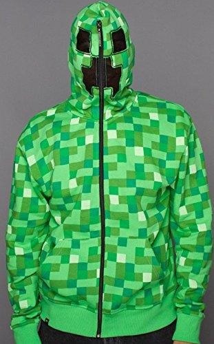 Minecraft Creeper Kapuzenjacke grün M