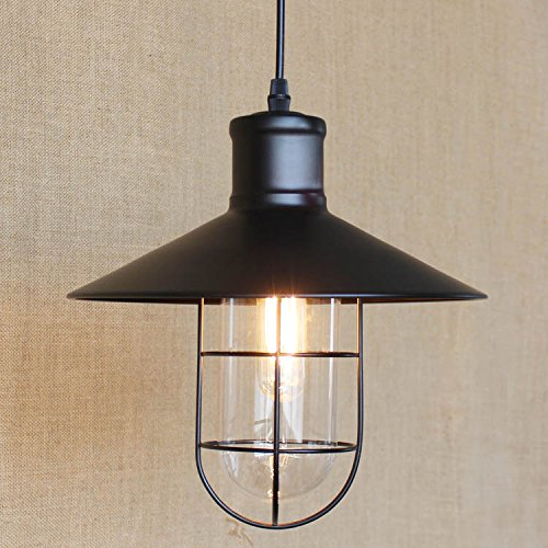 kiven industrial metal cage pendant light edison bulb lamp vintage style lighting