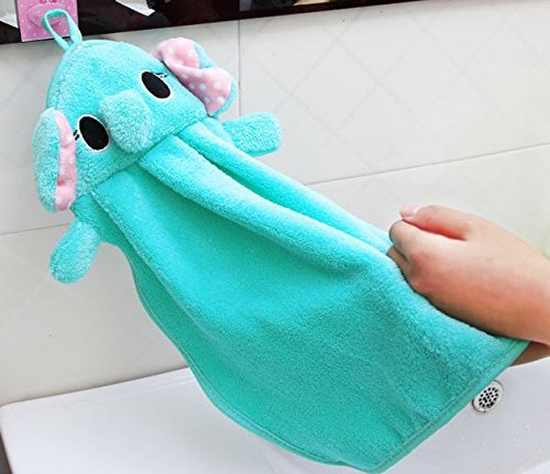 Roto - Cute Animal Microfiber Kids Children Cartoon Absorbent Hand Dry Towel Lovely Towel for Kitchen Bathroom Use