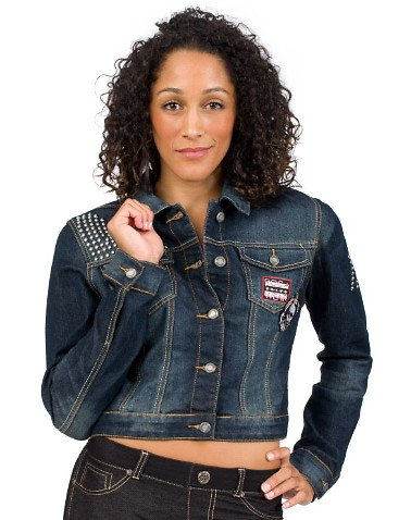 Rocawear Collegiate Denim Jacket Blue S