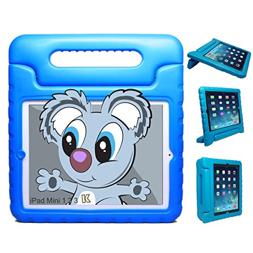 KAYSCASE KidBox Cover Case with Stand and Handle compatible with Apple iPad mini / iPad mini Retina Display (iPad mini 2) / iPad mini 3 7.9 inch tablet (Lifetime Warranty) (Bluey)