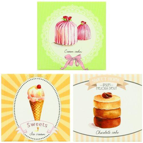 Lot-3-Magnet-Frigo-Stickers-Vintage-Gourmand-Luxe-Ice-Cream-USA