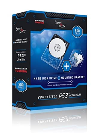 Steel Play - Pack: Disco Duro 500 GB + Adaptador Caddy (PS4, PS3)