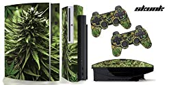 Ps3 Original Designer Skin For Fat Playstation 3 System, Ps3 Controller Skin Included Weeds2 Skunk 420