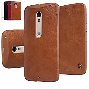 Nillkin Qin Series Leather Flip Case Cover for Moto X Style - Brown