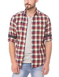 Prym Men's Casual Shirt (8907423014473_2011508203_X-Large_Ecru)