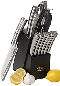 Oster 92272.14 Wellisford 14-Piece Stainless Steel Cutlery Set with Black Block, Black