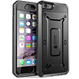 iPhone 6 Plus Case, SUPCASE [Heavy Duty] Belt Clip Holster Apple iPhone 6 Plus Case 5.5 inch [Unicorn Beetle PRO Series] Full-body Rugged Hybrid Protective Cover with Built-in Screen Protector (Black/Black), Dual Layer + Impact Resistant Bumper [Not Fit iPhone 6 4.7 inch]