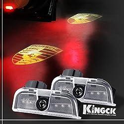 See KingCK Porsche 1 Min Easy Installation HD Car Door Logo Projector Pack of 2 Details