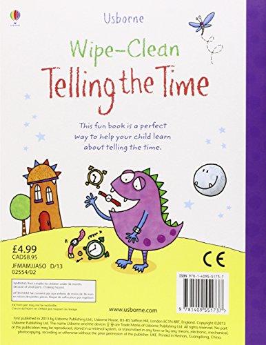 Wipe Clean: Telling the Time (Usborne Wipe Clean Books)