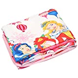 SS Sales Cartoon Princess Ac Single Microfiber Blanket (54 X 84 Inches, Multicolor)