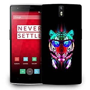 Snoogg Dj Tiger Designer Protective Back Case Cover For ONEPLUS ONE