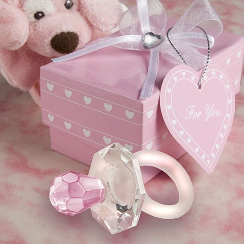 Choice Crystal pink pacifier favors (Set of 12) - 1