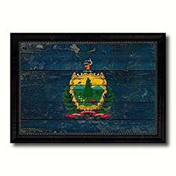 Virginia State Vintage Flag Art Collection Western Shabby Cottage Chic Interior Design Office Wall Home Decor Gift Ideas, 27\