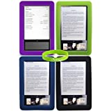 CrazyOnDigital Silicone Case 4 Pack Barnes & Noble Nook eBook Reader. CrazyOnDigital Retail Package ~ CrazyOnDigital
