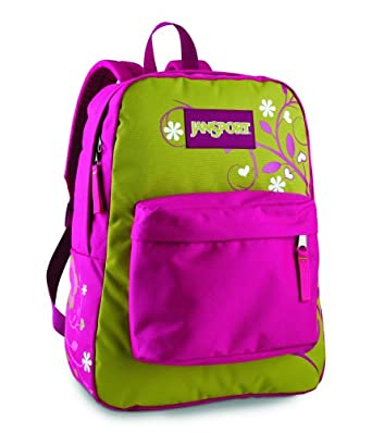 JanSport Classic Super G Series - Tree Flower Backpack, Pink Phenomenon