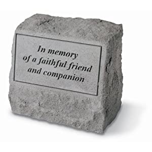 Design Toscano In Memory of a Faithful Friend and Companion Cast Stone Pet Memorial Statue