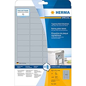 Amazon.com : HERMA SPECIAL 9011 A4 Inserts for name badges A4 90x54 mm