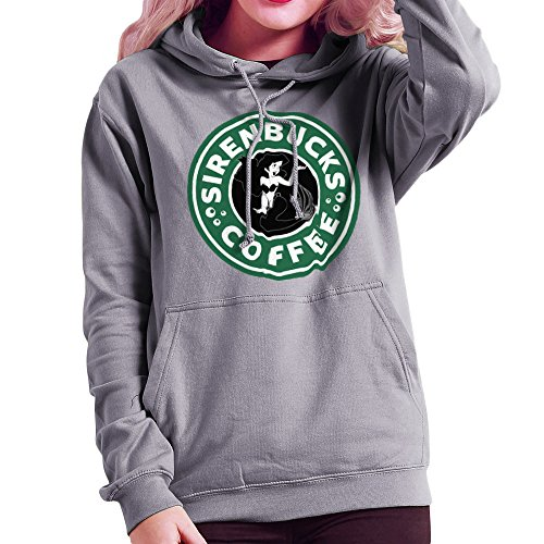 The Little Mermaid Ariel Starbucks Sirenbucks Coffee Women's Hooded Sweatshirt