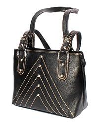 Stonkraft Womens Handbag (Black) (LthrBlkBag62)