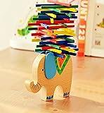 Dodompa バランシング スティック ハンズオン 木製玩具 (象)