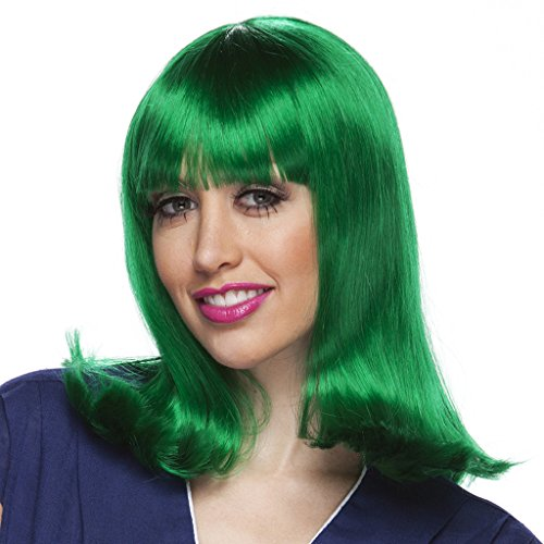 Costume Adventure Green Chacter Flip Wig For Adults and Kids
