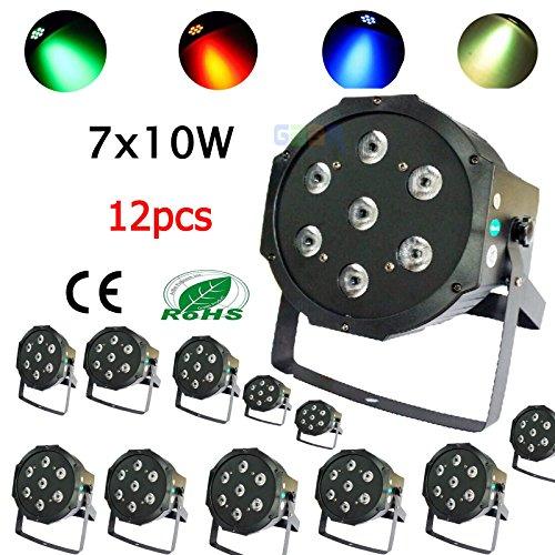 generic-12pcs-7x10w-dmx-512-rgbw-4in1-led-par-light-par64-can-flat-70w-tri-led-fedex-shipping