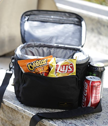 Premium Lunch Cooler Box Medium Black Insulated Lunch Bag