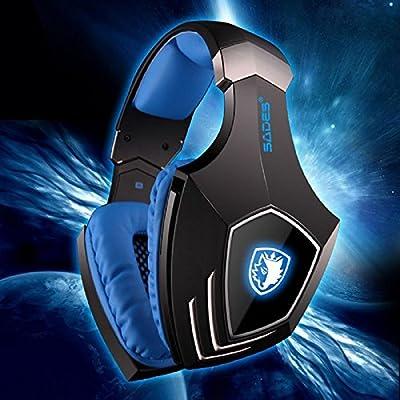 MyBDJ Sades Vibration Earphones USB Headphone 7.1 Sound Channel Headset With Mic 3 Colors LED