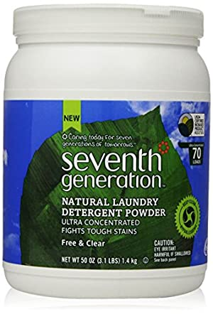 Seventh Generation  Natural Laundry Detergent Powder, Free and Clear