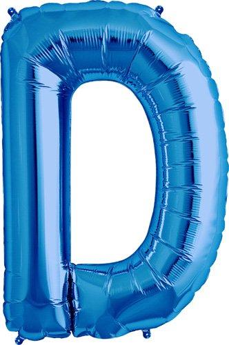 Letter D - Blue Helium Foil Balloon - 34 inch