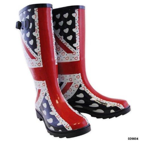 Ladies Mud Rocks Union Jack Wellington Boots