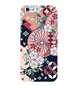 Flower Pattern 3D Hard Polycarbonate Designer Back Case Cover for Apple iPhone 6