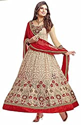 Krishna Women's Net Dress Material With Dupatta.