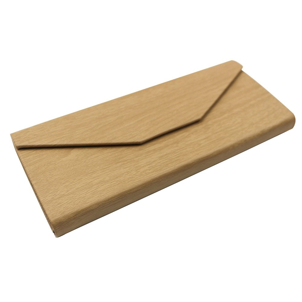 Eyeglasses Case, AMTIK® Vintage Wood Triangular Folding Eyeglasses Case (Natural Wood Grained) 3