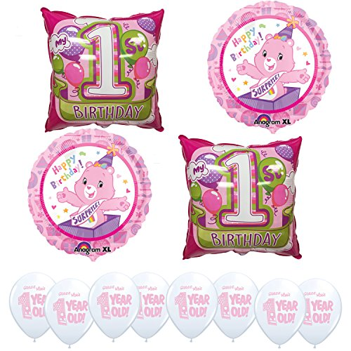 Care Bears Happy 1st Birthday Balloon Kit (Care Bears Invitations compare prices)