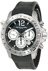 "Raymond Weil Men's 7700-TIR-05207 ""Nabucco"" Titanium Automatic Watch with Black Rubber Band"