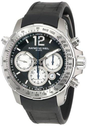 Raymond Weil Nabucco Chronograph Stainless Steel & Titanium Mens Watch Calendar 7700-TIR-05207