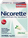 Nicorette Gum 4mg, Mint, 170-Count Package