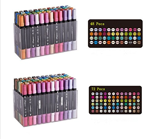 yalulu-12-24-36-48-72-twin-brush-marker-set-schuler-student-textmarker-grafitti-manga-kunstler-marke