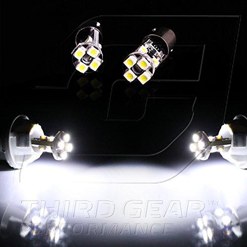 Tgp Ba9 White 8 Led Smd Canbus Light Bulbs Error Free H21W H6W 64132 64111 53 57 3886X - Pair