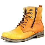 Lee Fog Mens Horizon Genuine Leather High Anklet Tan Genuine Leather Casual Boots UK 10